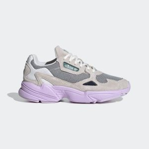 adidas falcon sneakers γυναικειο γκρι λιλα